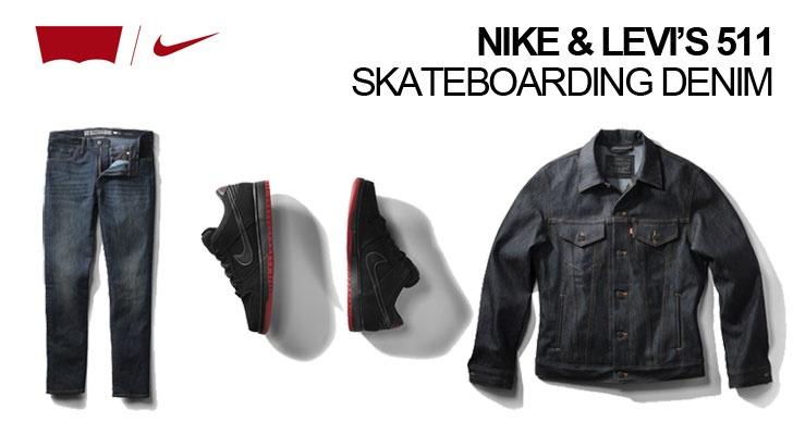9b8ab5d62422 Nike and Levi s 511 skateboarding denim - Boardsport SOURCE
