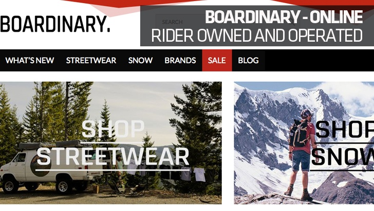 Boardinary – Rider Owned and Operated Online Store