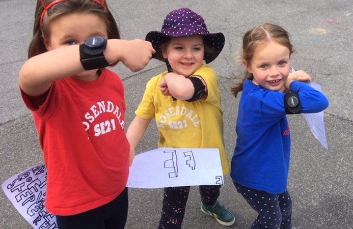 Pupils at Rosendale Primary School during the #itsgreatoutthere and ReimaGO project