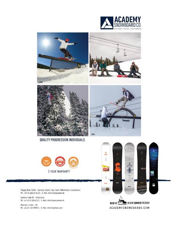 95 Academy snowboards