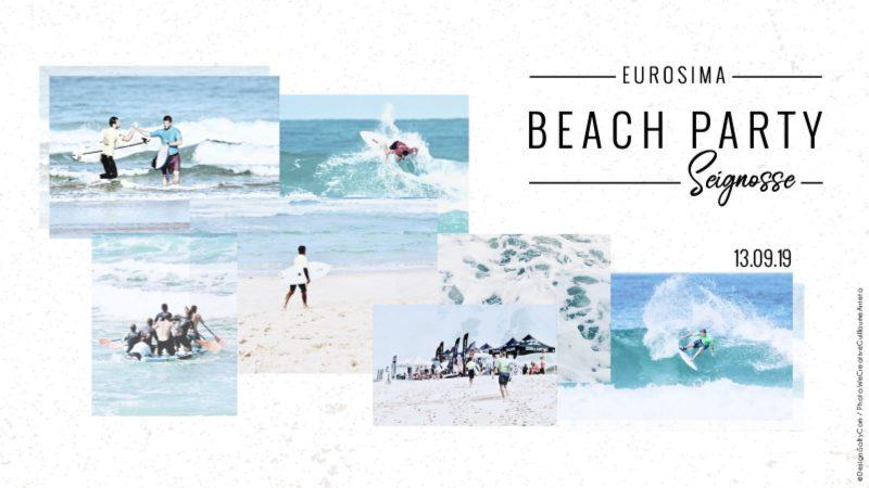 Eurosima beach party poster