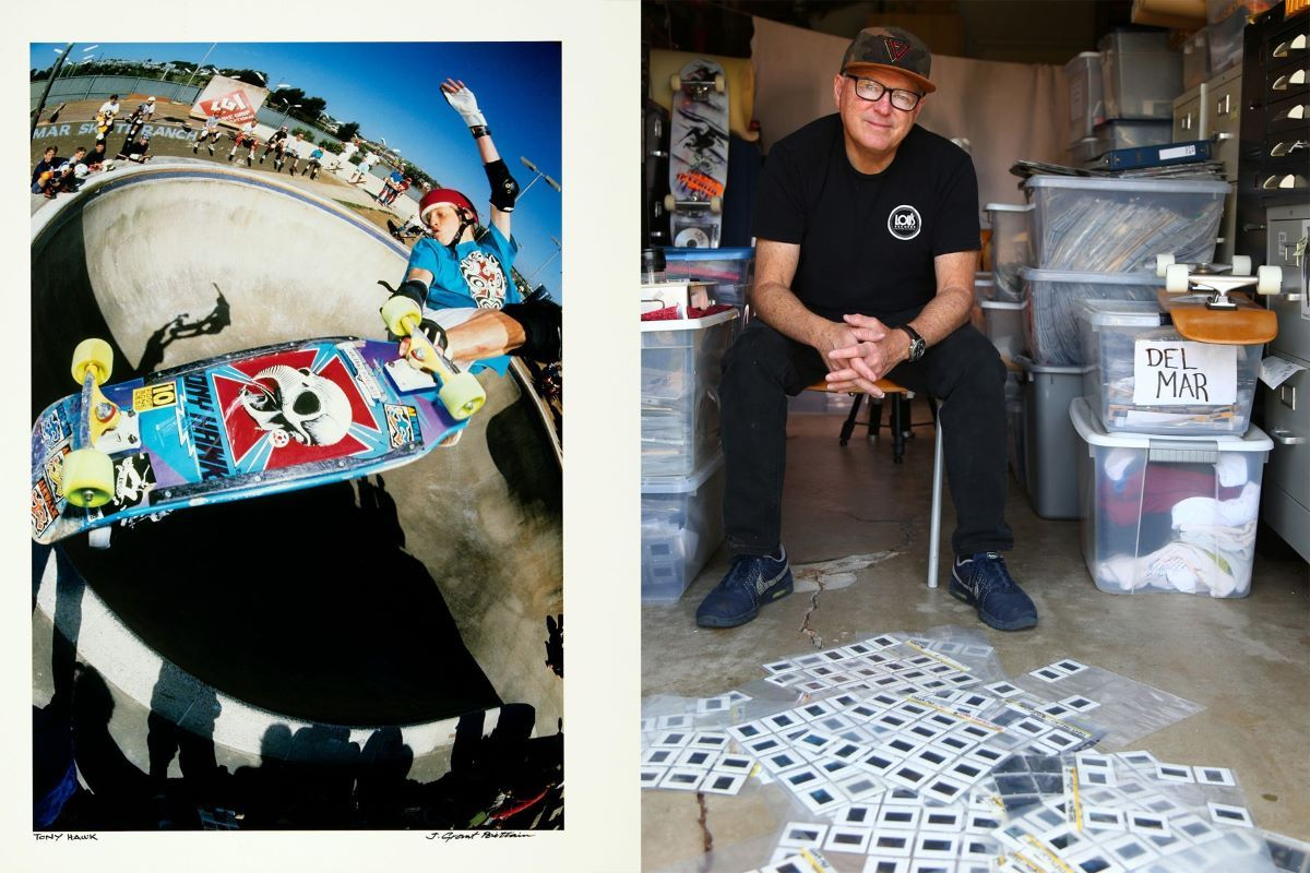 Grant Brittain with his favourite image of Tony Hawk