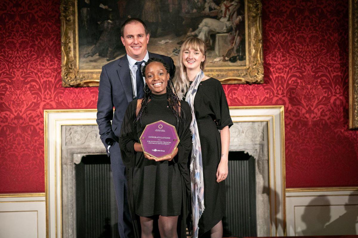 Snow Camp recieves Princess Royal Training Award