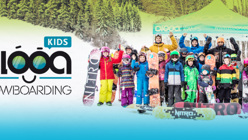elooa kids snowboarding