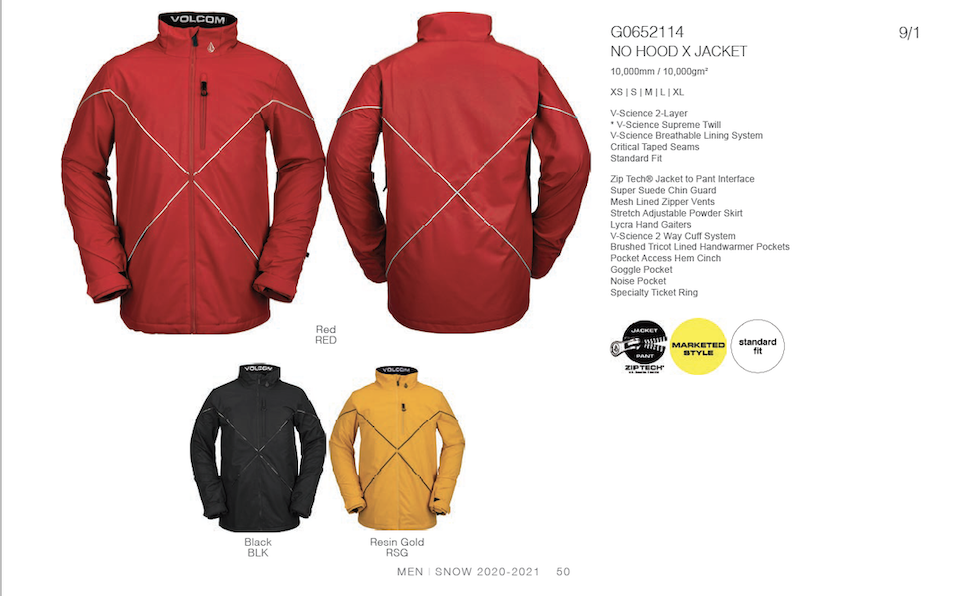 Volcom FW20/21 Men's Outerwear Preview