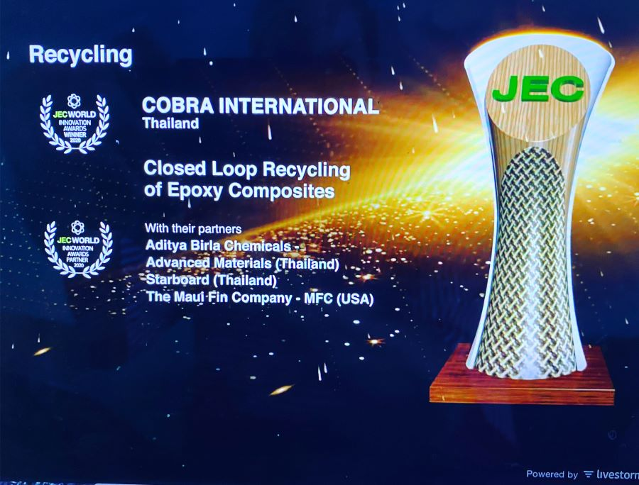COBRA Win JEC Award