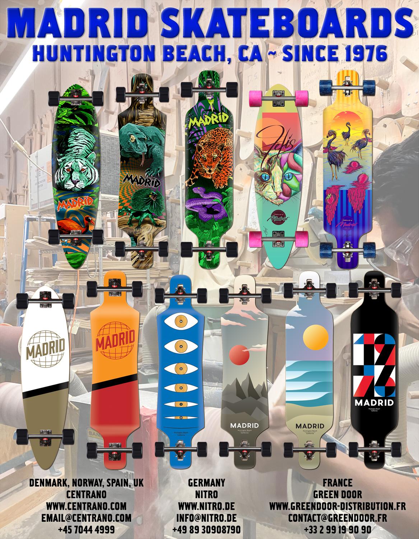 101 Madrid skate longboards