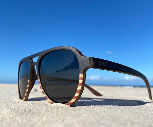 Gold Coast Longboards recycled timber sunnies