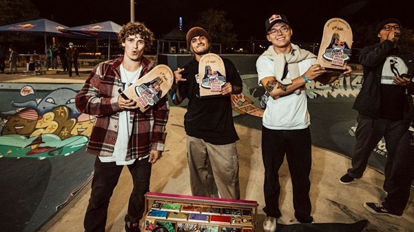 The Red Bull Bowl Rippers 2020 podium by TEDDY MORELLEC RED BULL CONTENT POOL