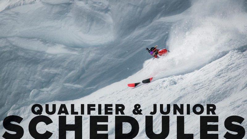 Qualifier & Junior schedule