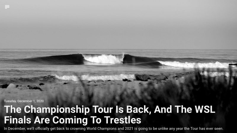 Championship Tour is back for 2020