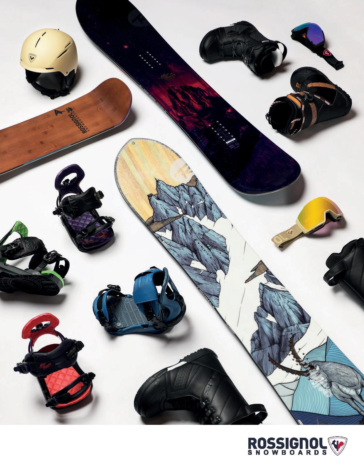 104 rossignol  snowboard boots, snowboard bindings, snow gelmets and splitboarding