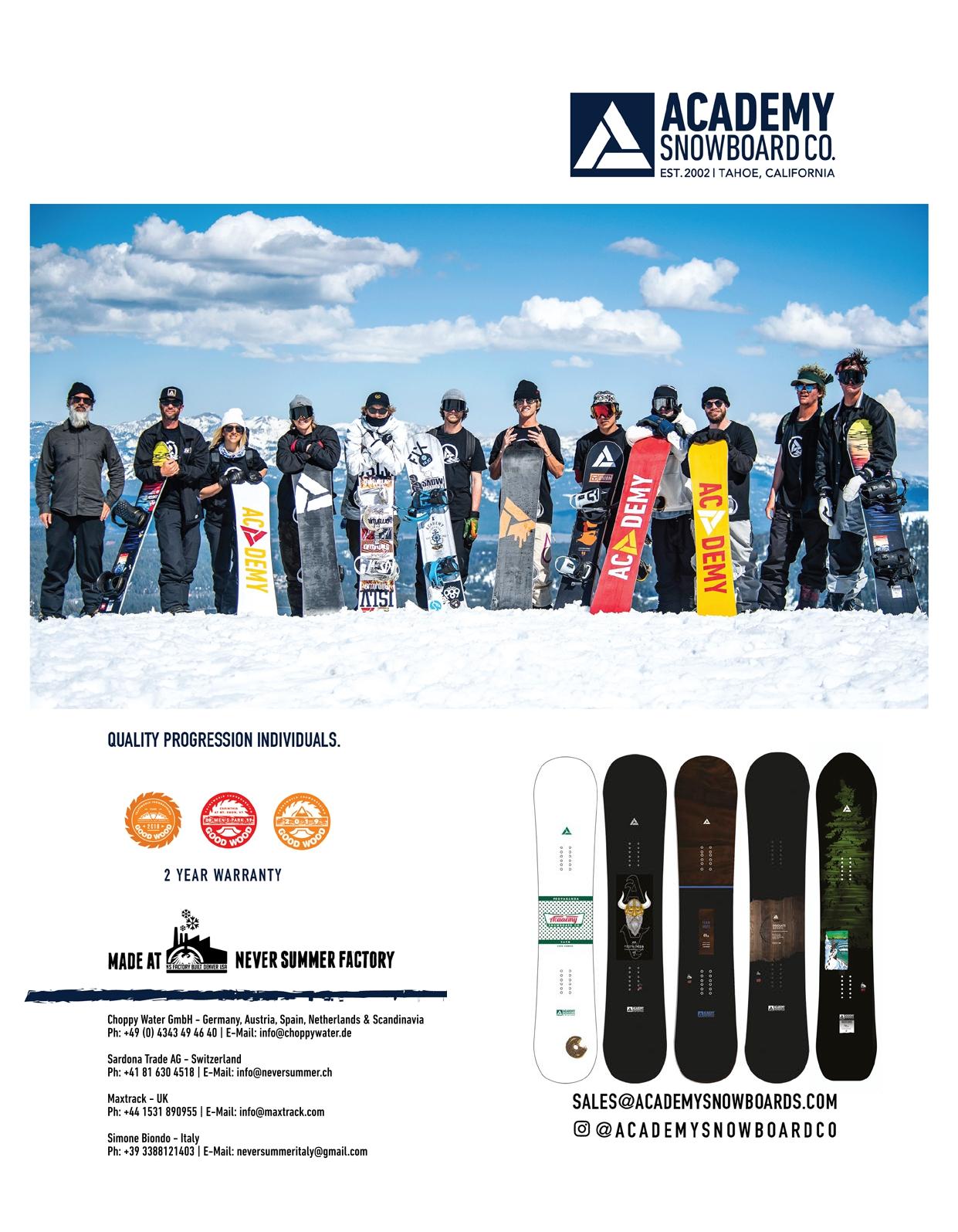105 Academy snowboards