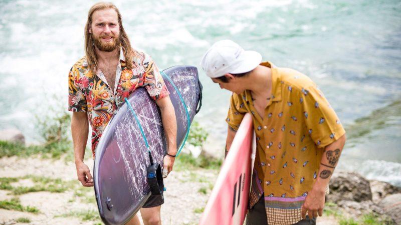 Landlocked swiss surf_ Valentin and Esteban