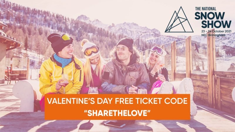 National Snow Show 2021 Valentines free tix offer