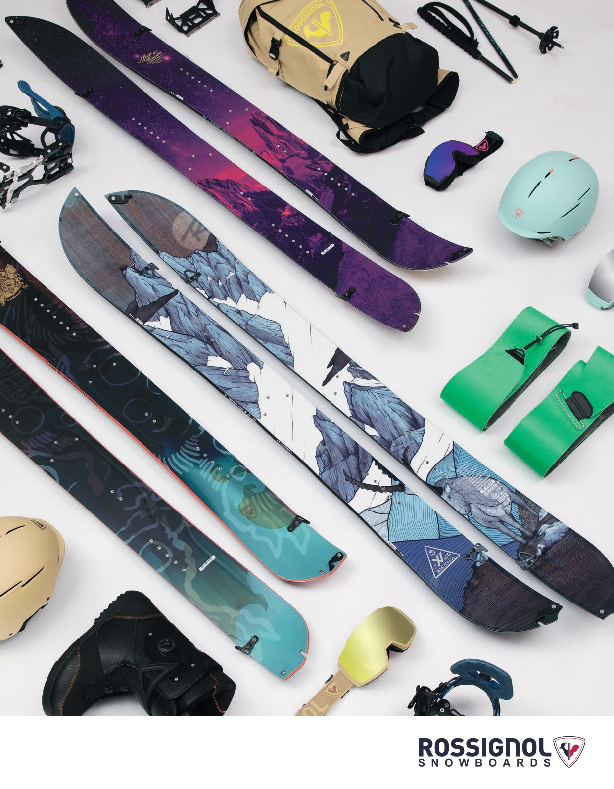 105 rossignol snowboards and goggles