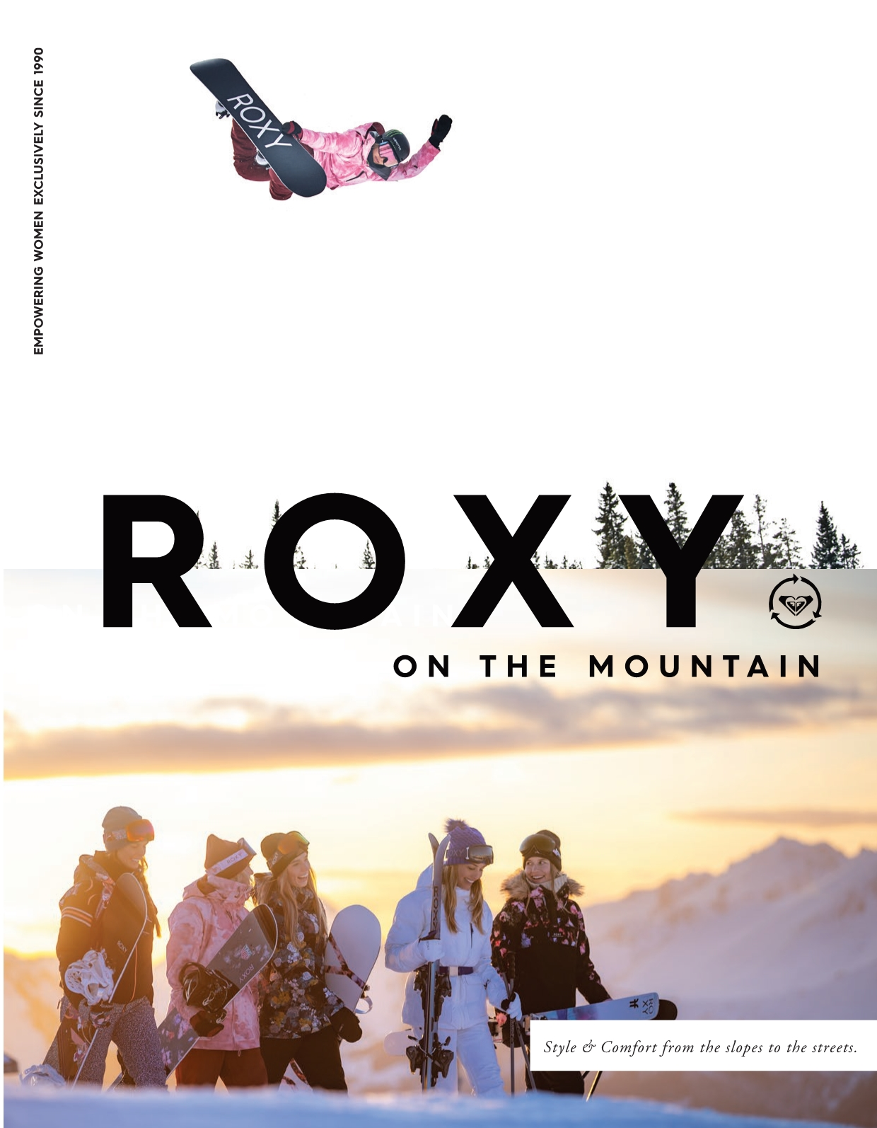 105 roxy snowboard and womens outerwear