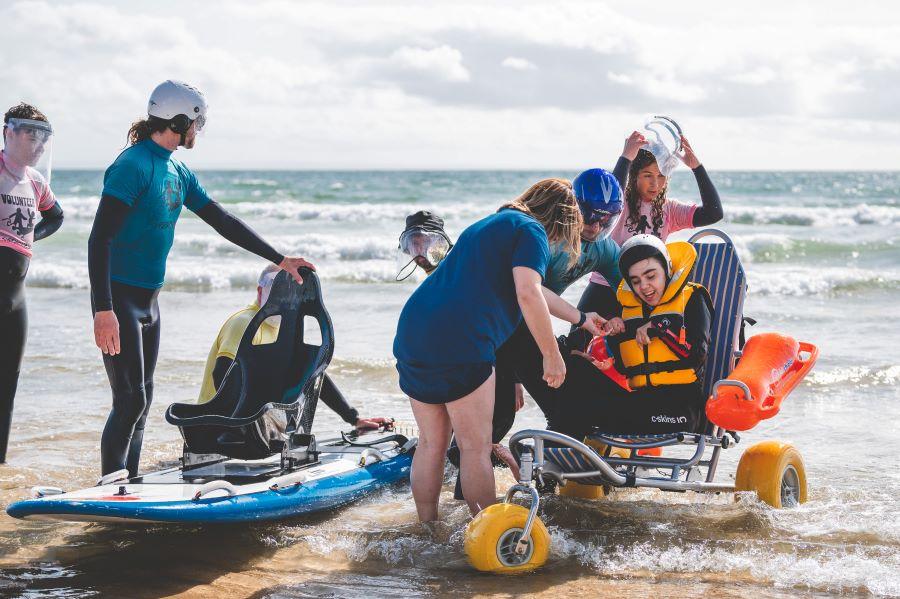 Surfability board & wheelchair