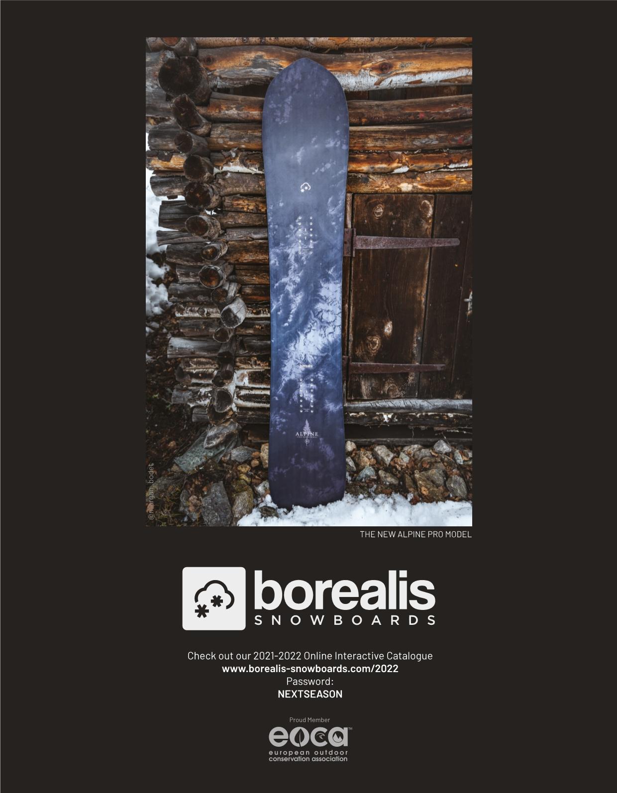 105 Borealis snowboards
