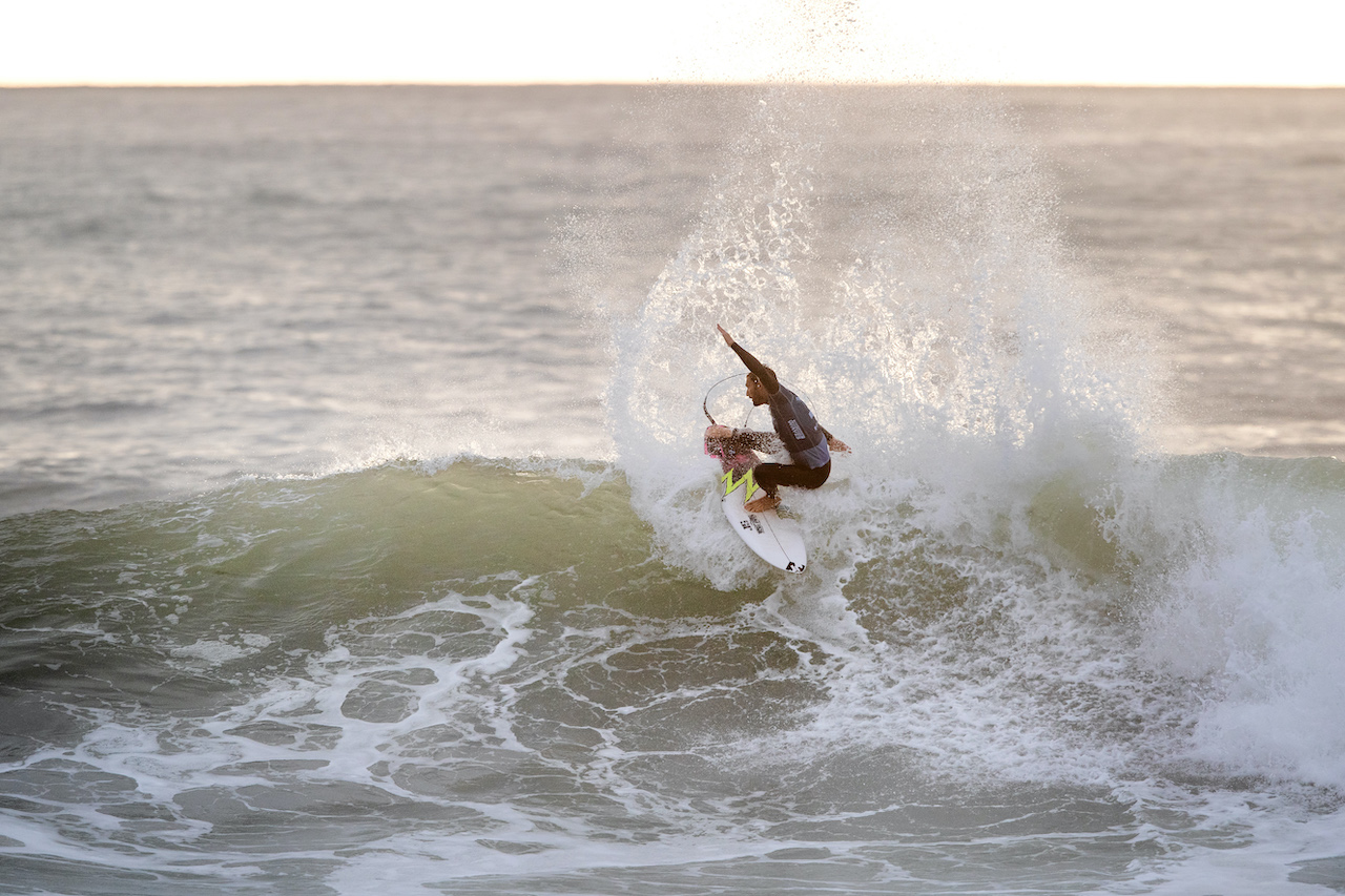 Frederico Morais at the 2020 MEO Portugal Cup Of Surfing (Countdown series event)© WSL : Damien Poullenot
