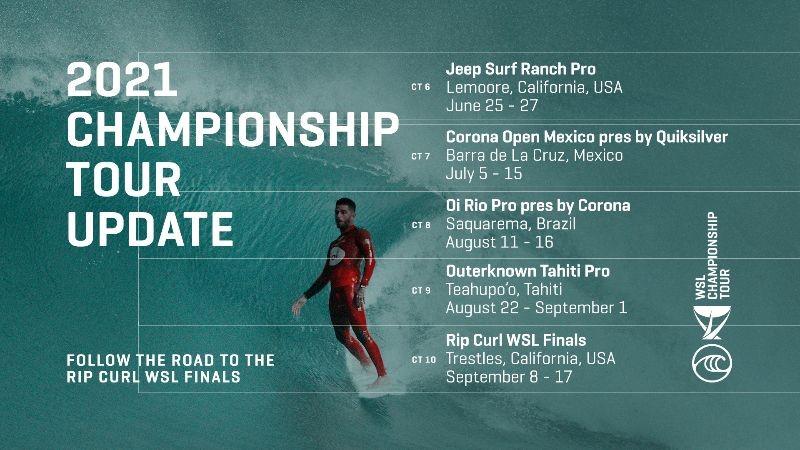 2021 Championship Tour Update