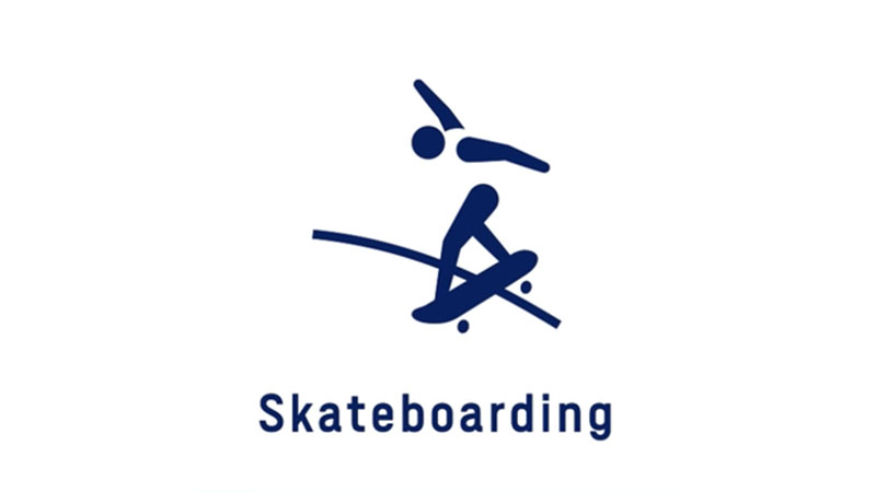 Skateboarding Olympic pictogram