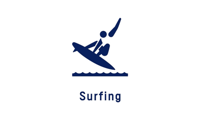 Surfing Olympic Pictogram