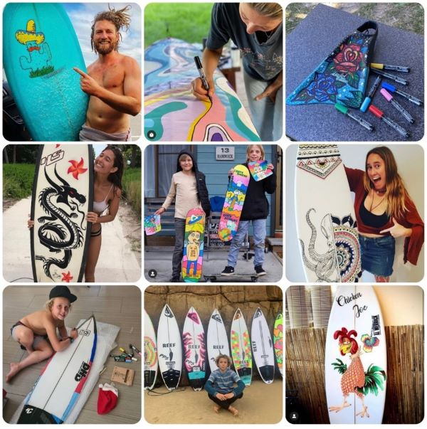 Surfpaint art examples