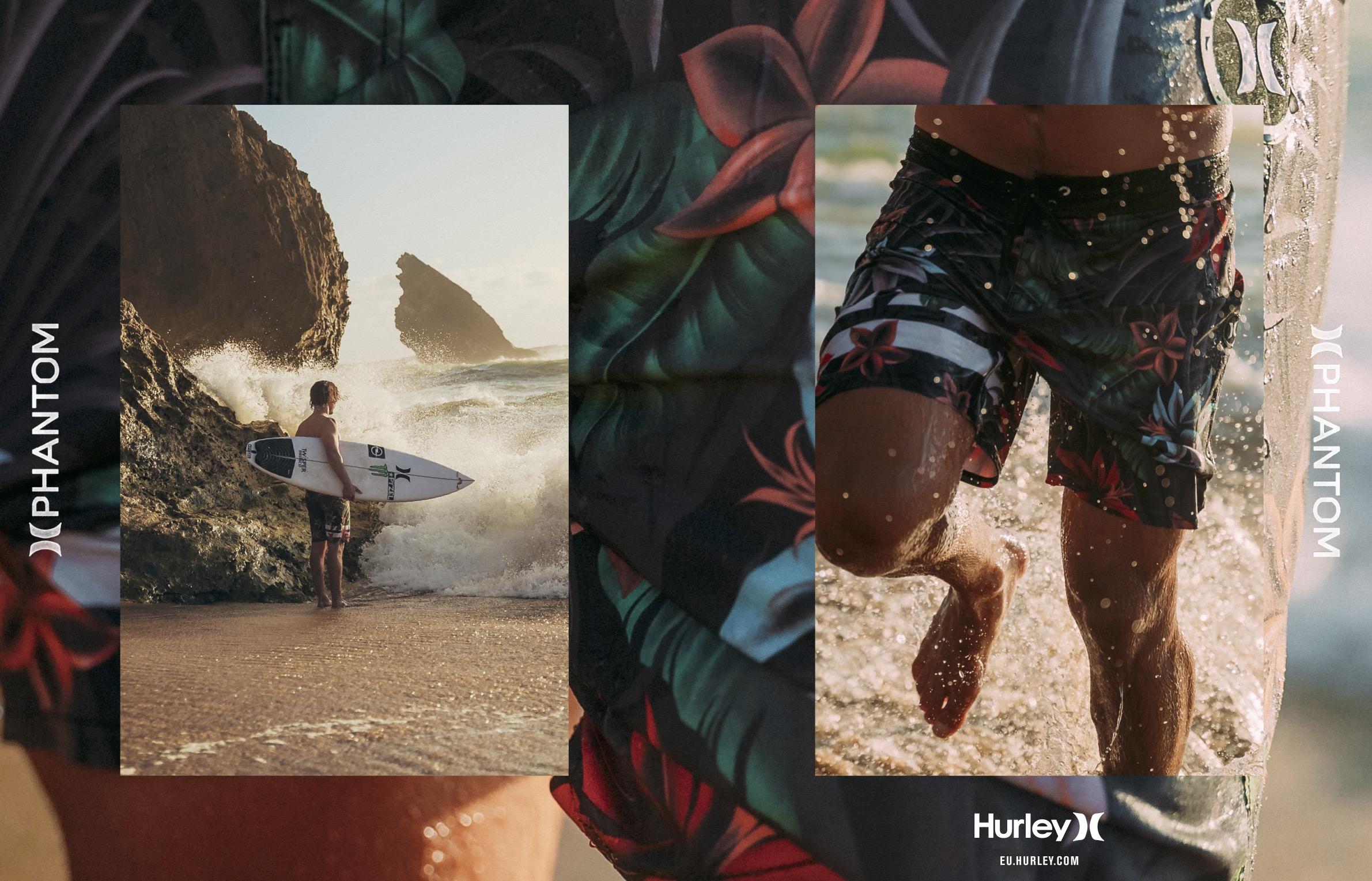 107 Hurley boardshorts and women swimwear