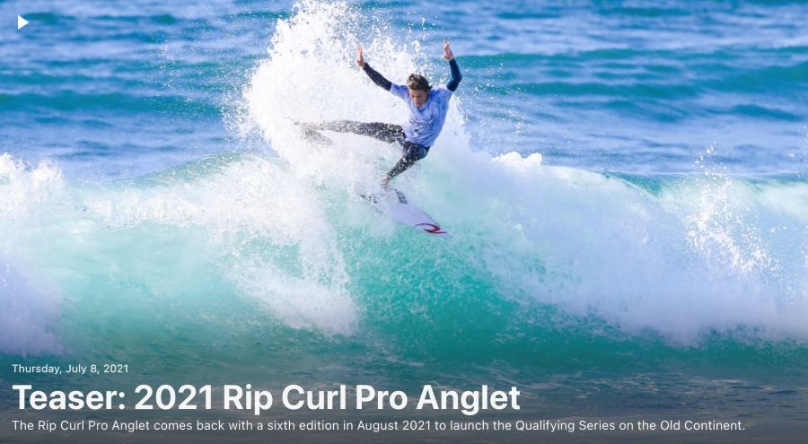 Teaser 2021 Rip Curl Pro Anglet
