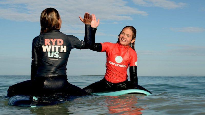 RYD surf school header