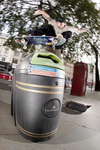 Skate the strand bin jump