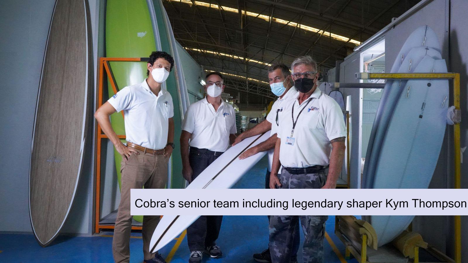 [108] Cobra's senior team including legendary shaper Kym Thompson (captioned)