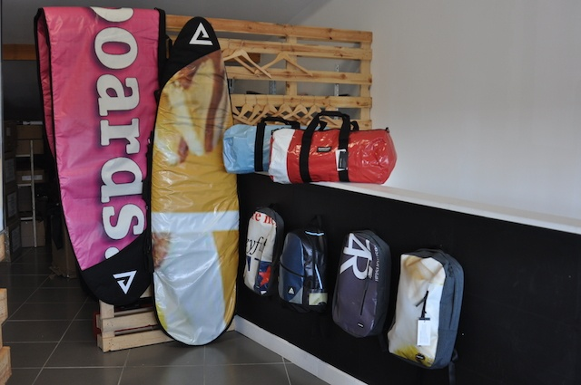 Rareform boardbags and rucksacks - lined with old American billboards - no two products will ever be the same.JPG